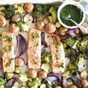 Sheet Pan Salmon with Broccoli and New Potatoes