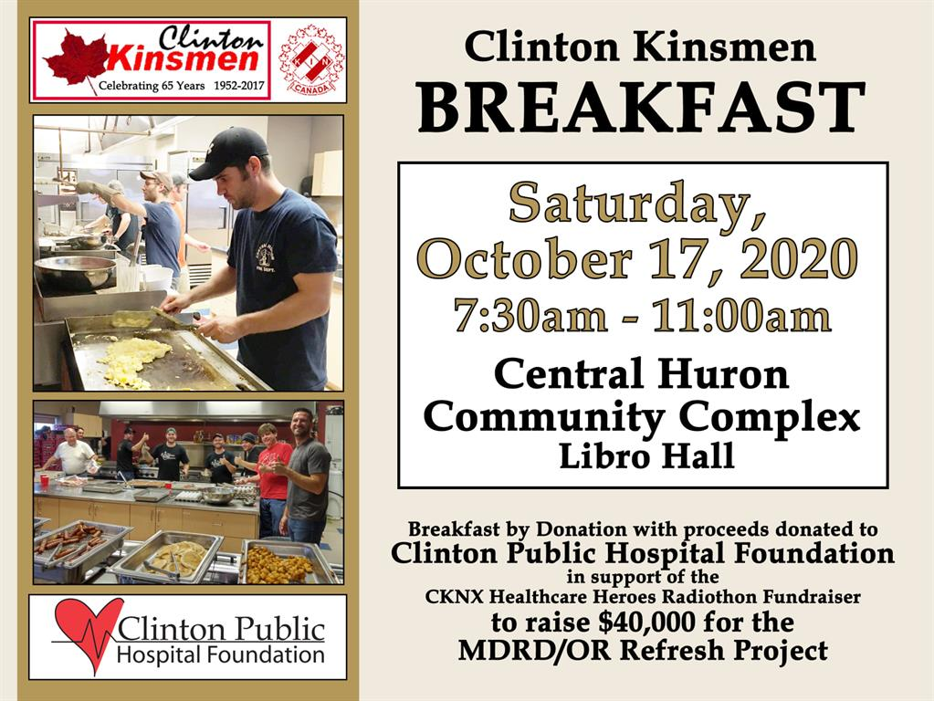 Clinton Kinsmen Breakfast October 17