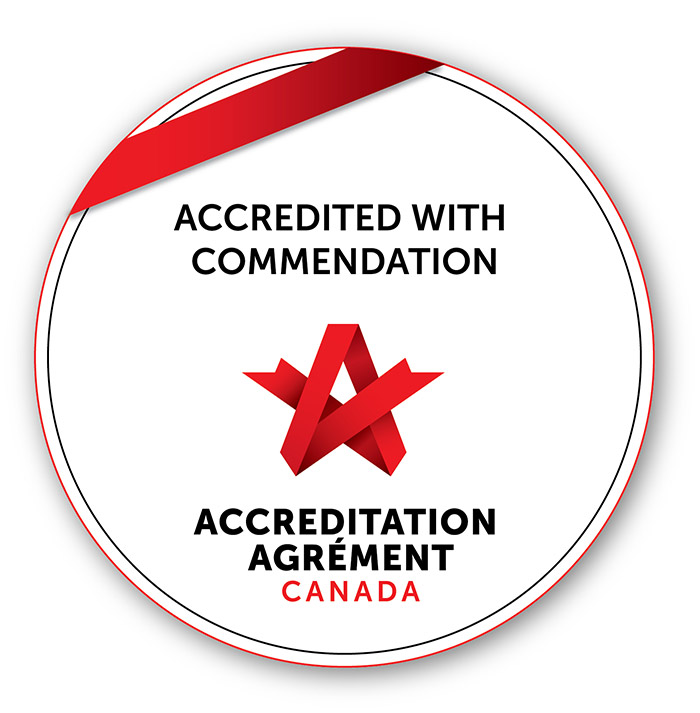 Accredited with commendation seal